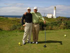 Walt and Kate Fucito - golf trip scotland