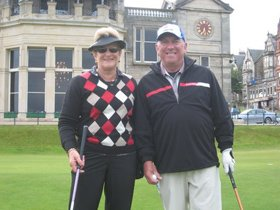 Viv and Harry Beck, taken at Old Course St Andrews