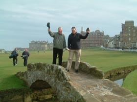 St Andrews Old Course - Andre and Eric Maltais