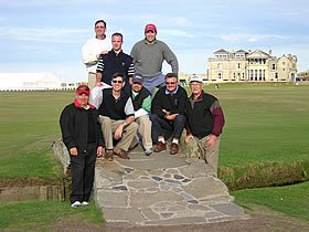 Rick Towle and party on The Old Course St Andrews